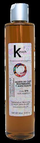 ACEITE DE CAFÉ REAFIRMANTE Y ANTICELULITIS