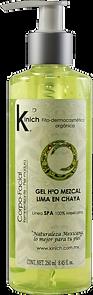 GEL H2O MEZCAL LIMA EN CHAYA - 250 ml.