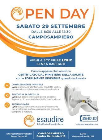 Open day a Camposampiero (PD) il 29/09