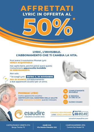 Lyric in offerta al 50% fino al 30/11