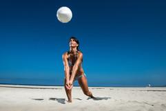 Playa del jugador de voleibol
