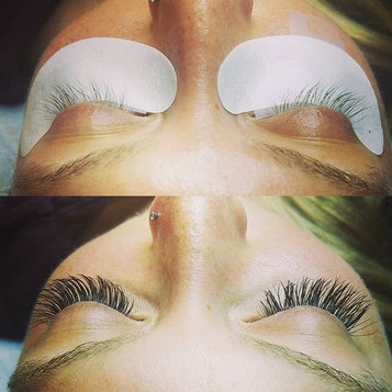 Classic Full Set | Before and After | Eyelash Extensions | San Diego | Near Me | Downtown