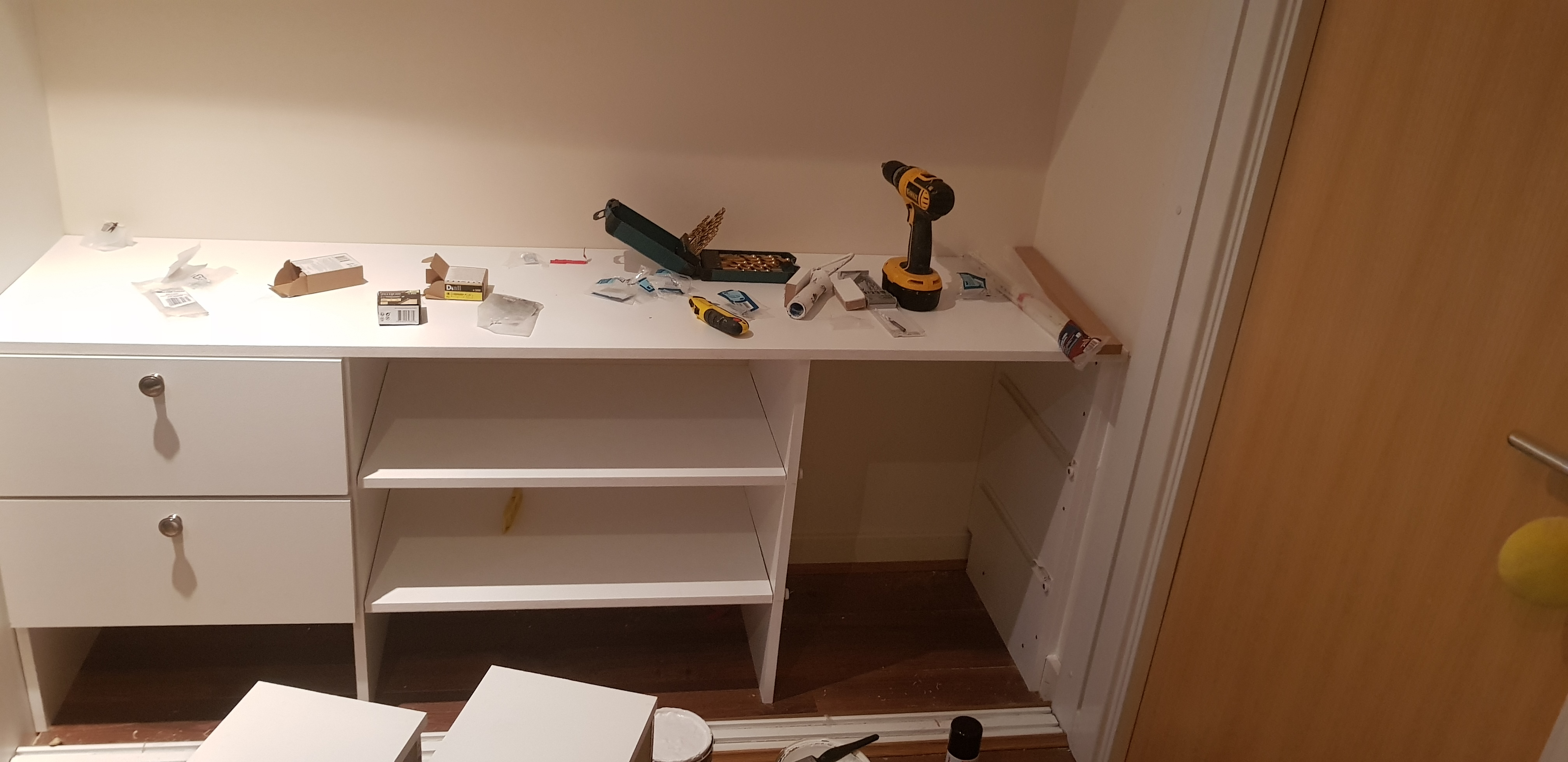Custom made drawer unit