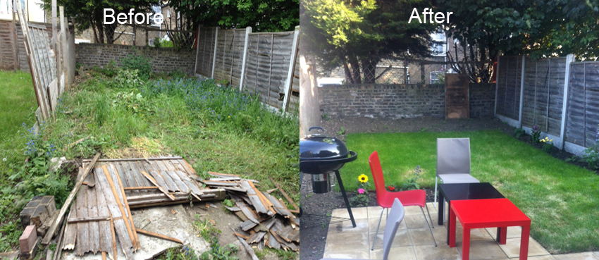 Garden tidy up in Leyton
