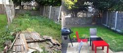Garden tidy up in Leyton