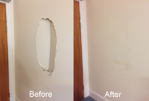 Damaged wall repair