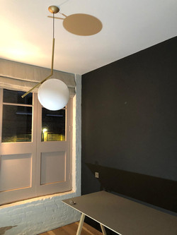 Newly Painted bedroom & new light