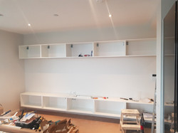 Wall mounted TV unit in Stratford