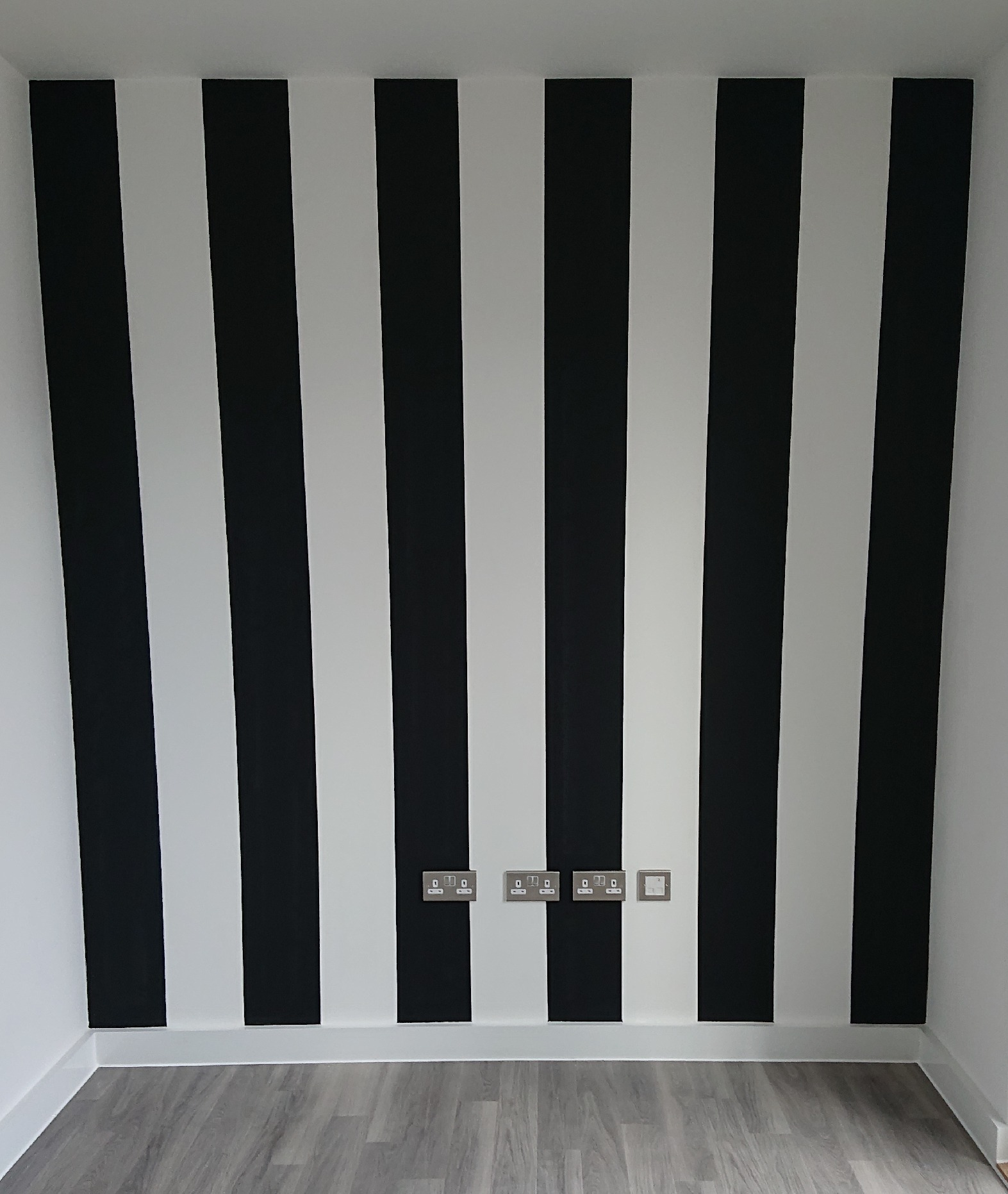 Black & white painted stripes