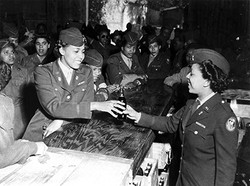 major_charity_adams_at_openning_of_WAC_snack_bar_online_caption