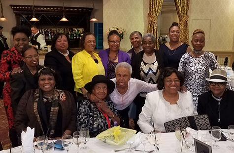 New York City NABMW member gather at luncheon. Black Military Women.