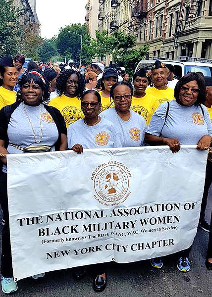 Black military women vets march in parade in New York City