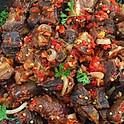 Peppered Goat Meat Platter