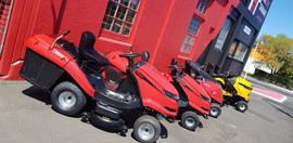 Ride on mowers outside