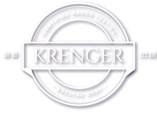 Krenger Radon Testing Logo - White with