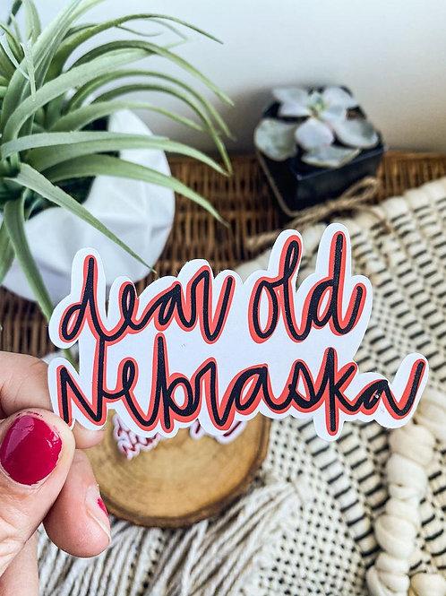 Dear Old Nebraska Sticker