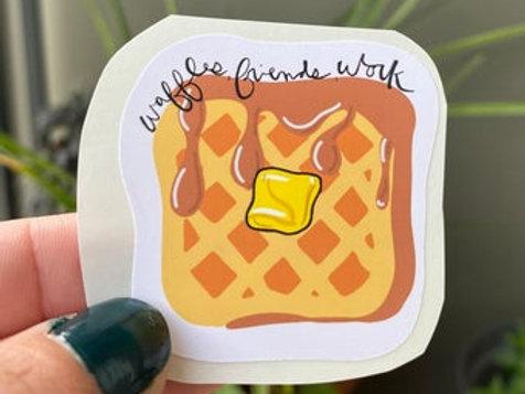 Waffles, Friends, Work Parks & Rec Lesli Knope
