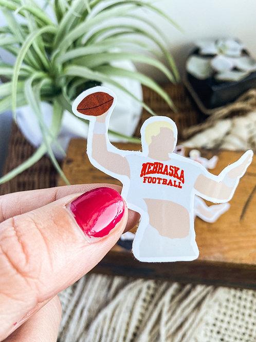 Scott Frost Nebraska Crop Top Sticker