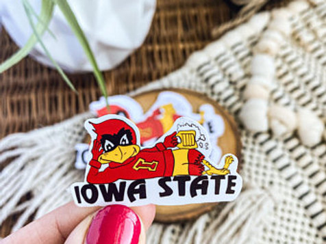 Iowa State Retro Beer Logo