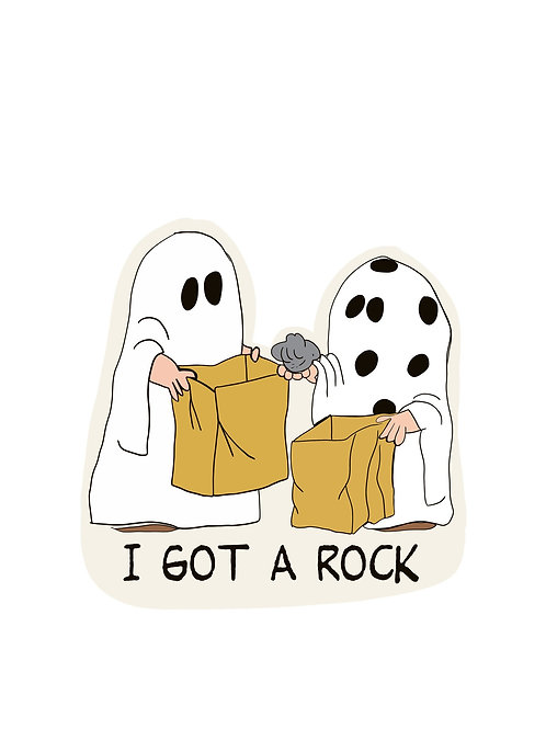 Charlie Brown I Got a Rock | It's a Great Pumpkin Sticker