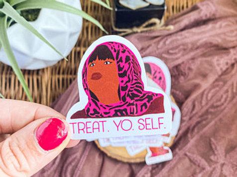Parks and Rec Treat Yo Self Sticker