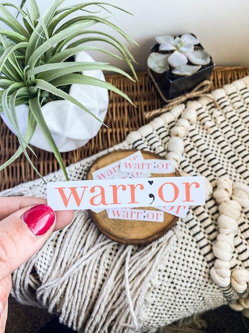 Warr;or Mental Health Sticker