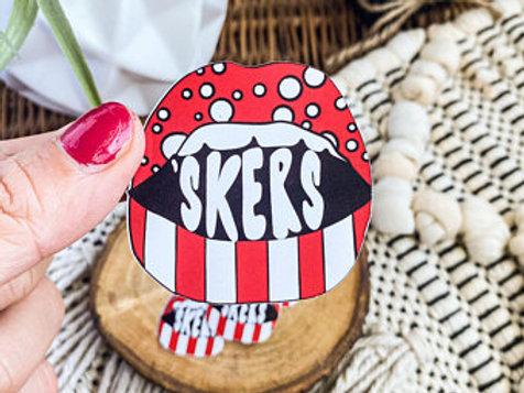 Husker Game Day Lips Sticker
