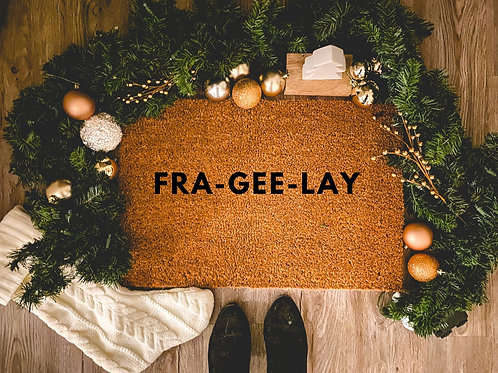 FRA-GEE-LAY A Chistmas Story Doormat