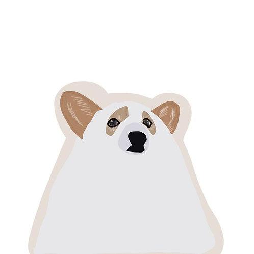 Spoopy Corgi Sticker