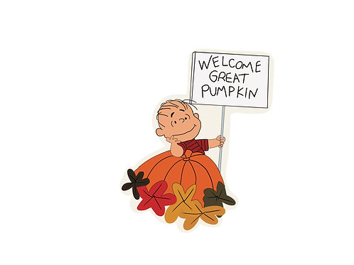 Welcome Great Pumpkin Charlie Brown Sticker