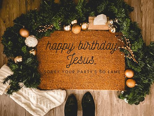 The Office Happy Birthday Jesus Doormat