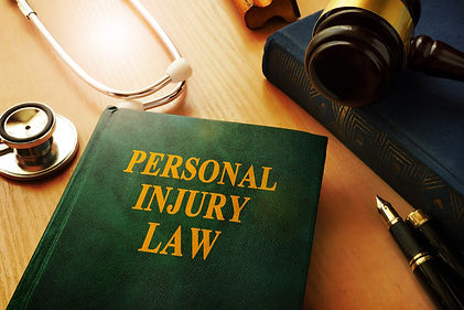 Personal injury law book on a table..jpg