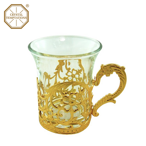 Gold Plated Glass Products Arabic Tea-Set