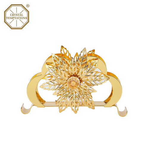 24K Gold Plated Kitchenware Napkin Holder with Swarovski Crystal