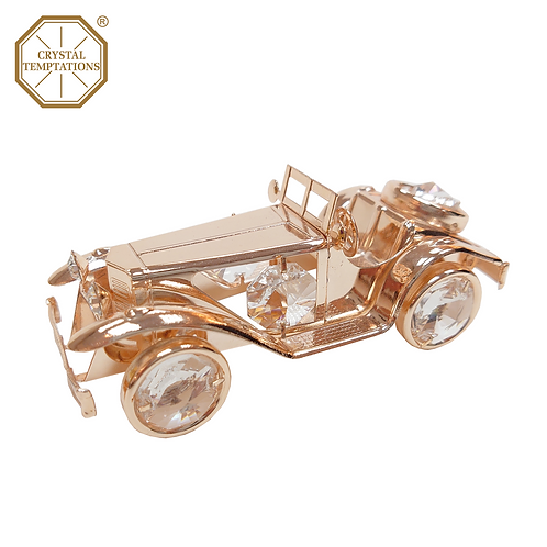 Rose Gold Plated Decoration 1962s Convertible with Swarovski Crystal