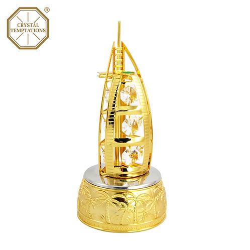 24K Gold Plated Decoration Burj Al Arab with Swarovski Crystal