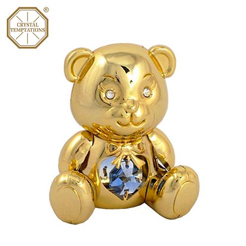 24K Gold Plated Baby Teddy Bear with Swarovski Crystal