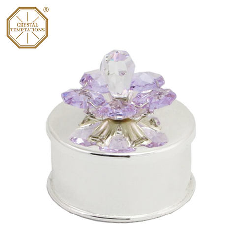 2f8e0e41a Silver Plated Lacquered Baby tooth box with Swarovski Crystal
