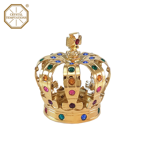 24K Gold Plated Decoration Crown with Swarovski Crystal