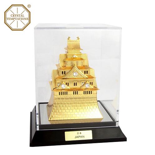 24K Gold Plated Decoration Osaka Castle with Swarovski Crystal