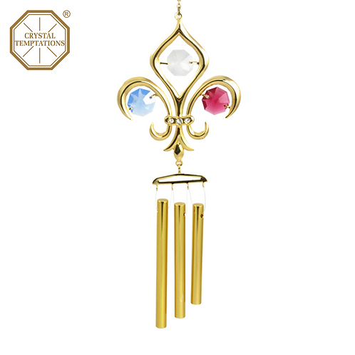 24K Gold Plated Scouts with Swarovski Crystal Wind Chimes