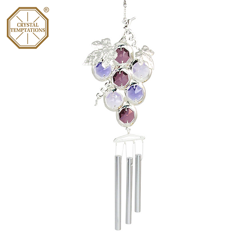 Silver Plated Raisins with Swarovski Crystal Wind Chimes