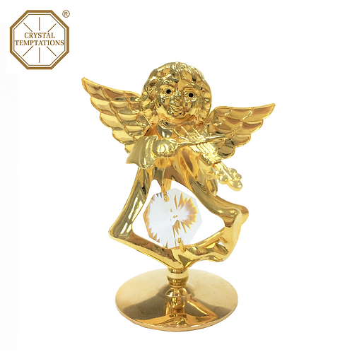 24K Gold Plated Christmas Angel with Swarovski Crystal