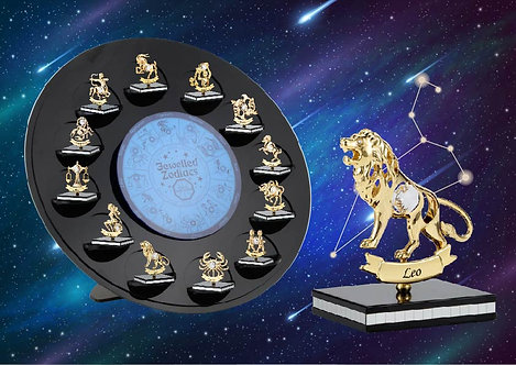 Gold plated Zodiac iron table decoration