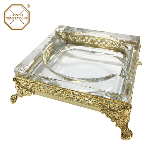 Gold Plated Glass Products Ashtray