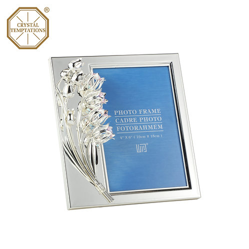 Silver Plated Photo Frame with Swarovski Crystal table decoration