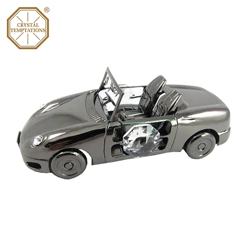 Blackish Plated Lacquered Decoration Sports Car with Swarovski Crystal