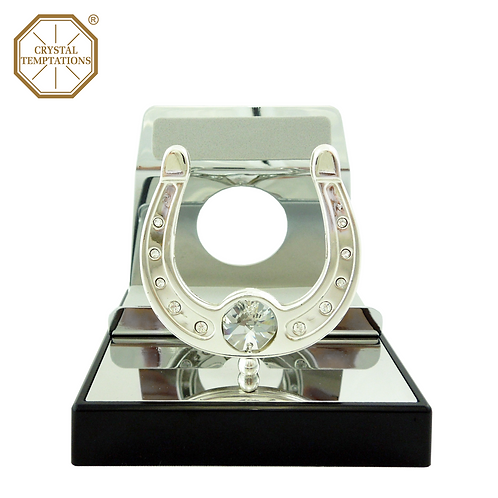 Silver Plated Horseshoe with Swarovski Crystal Phone Stand