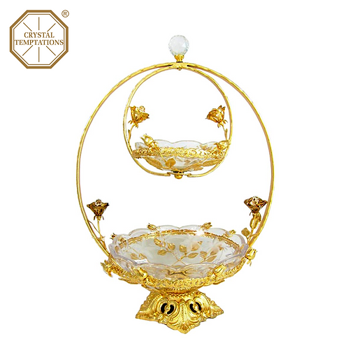Gold Plated Glass Products with Swarovski Crystal