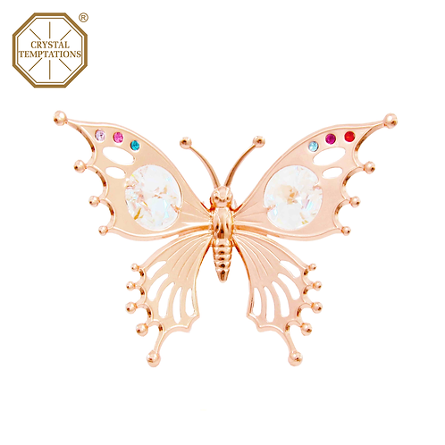 Rose Gold Plated Figurine Butterfly with Swarovski Crystal